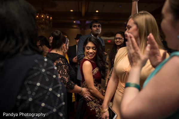 Maharani having fun in reception party.