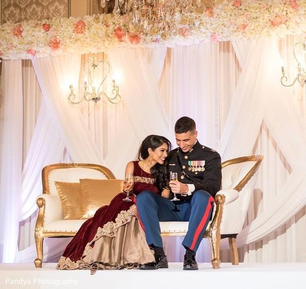 Elegant Indian couple photo.
