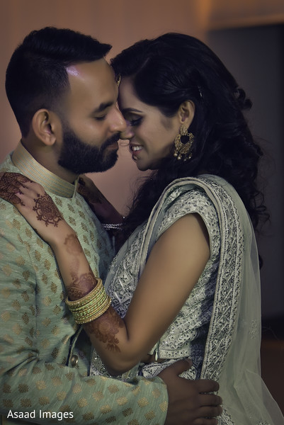 Gorgeous couple during her Sangeet.