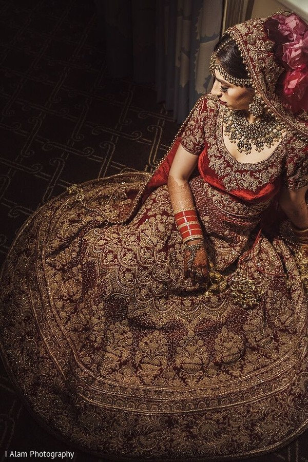 Indian bride looking totally stunning.