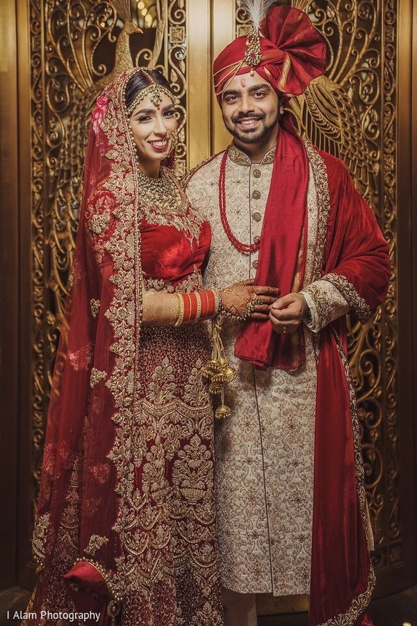 Indian bride and Raja rocking the bridal attires.