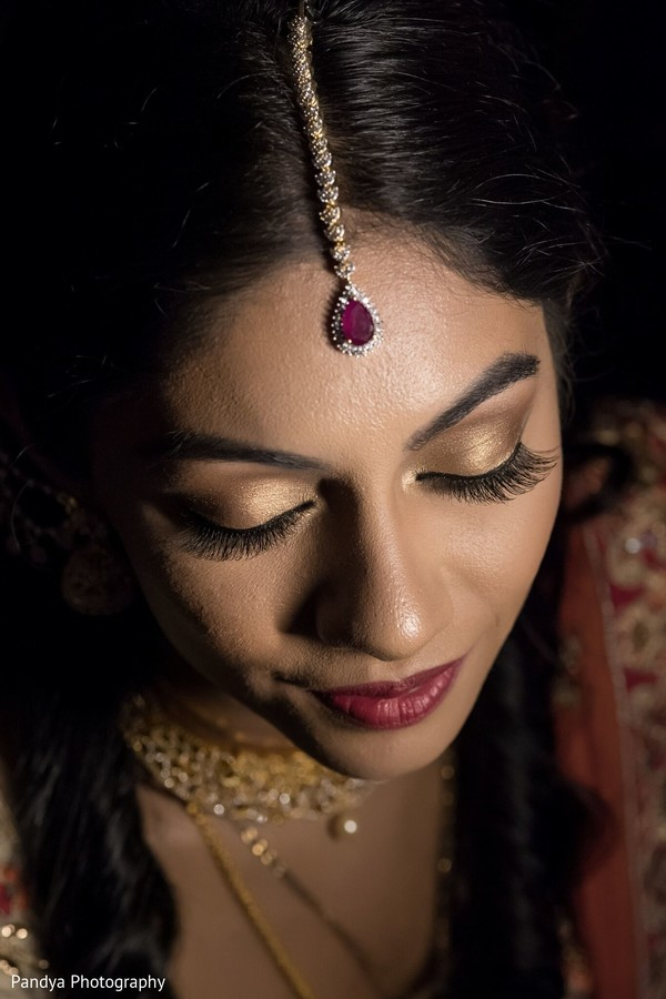 Gorgeous Maharani with make up done.