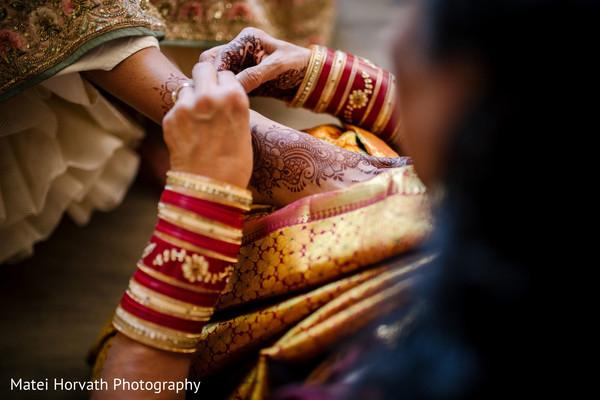 Beautiful mehndi art on Maharani's feet.