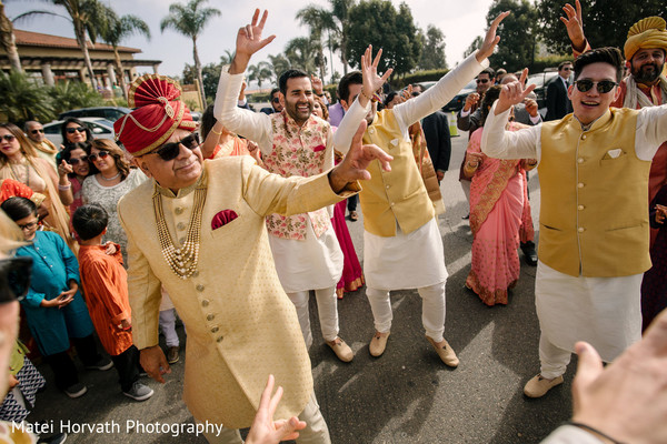 Maharani's father during the baraat.