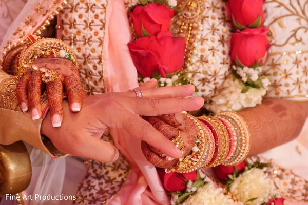 See this enchanting moment of the Indian wedding ceremony.