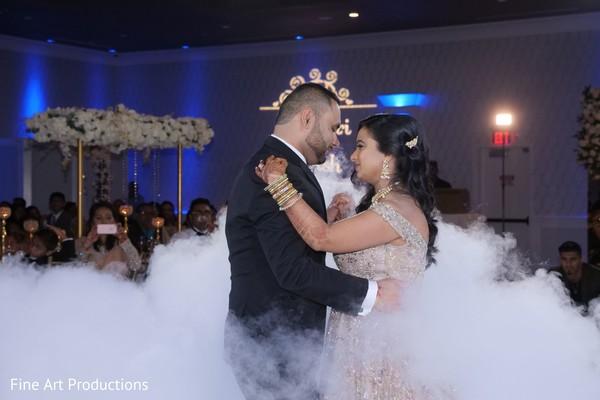 Gorgeous Maharani and Raja having their first dance.