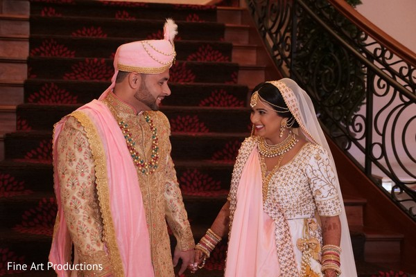 The Raja and Maharani meeting prior to the ceremony.