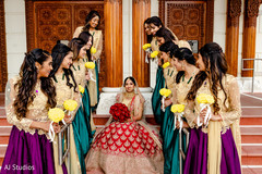 Phenomenal indian bride with bridesmaids capture
