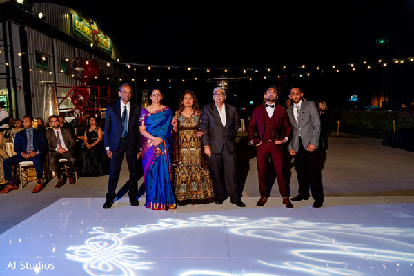 Indian bride's and groom's family photography
