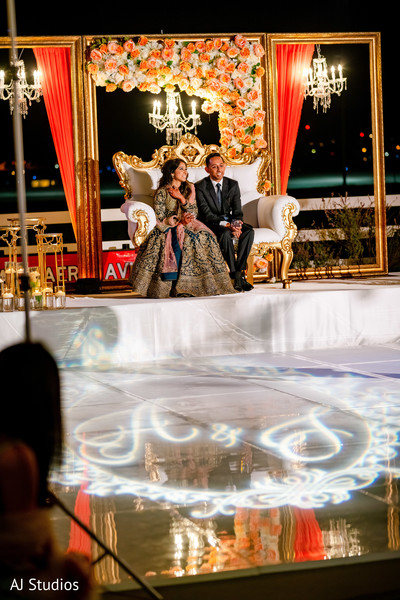 Indian bride and groom photography at their reception stage
