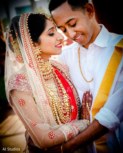 Indian bride and groom photo session