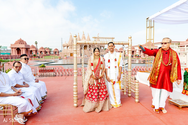 Indian bride and groom photography at their wedding ceremony