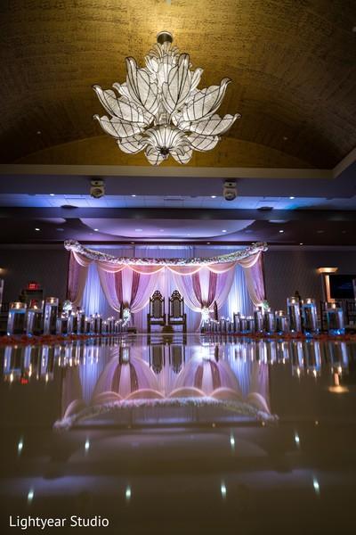 Indian wedding lighting decor details.