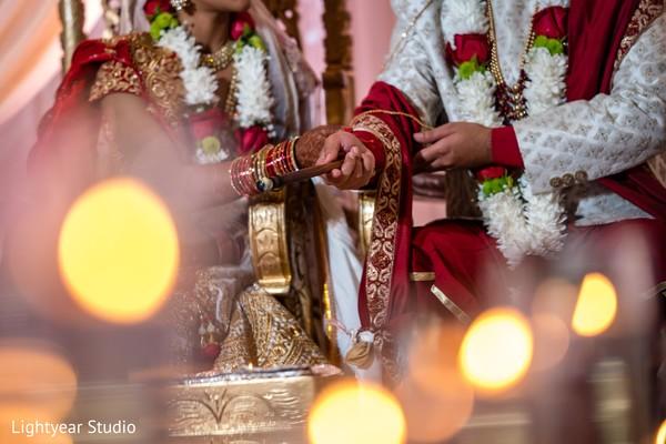 Indian wedding rituals close up capture.