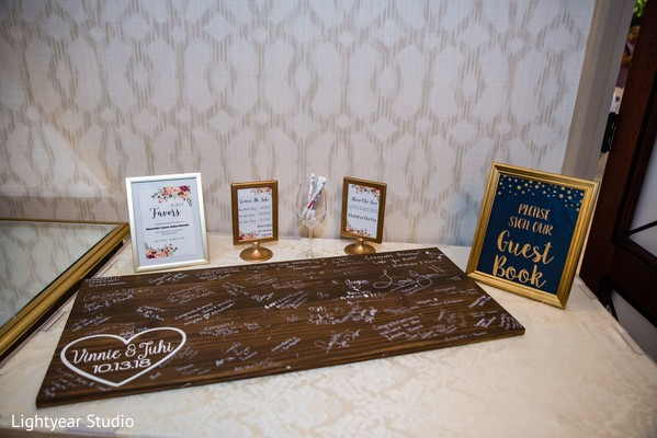 Guest book and message board for the Indian newlyweds.
