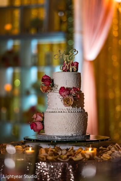 Delicious Indian wedding cake design.