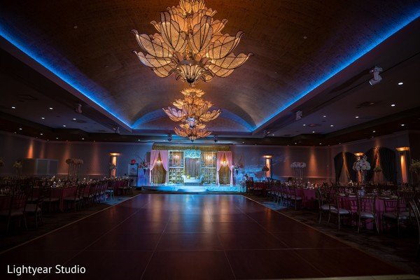 Overview of the Indian wedding reception venue.