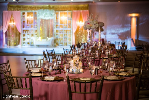 Chair setup design for the Indian wedding reception.