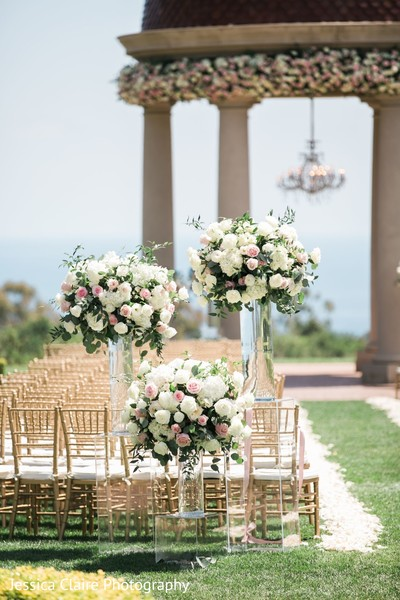 Indian wedding ceremony flowers decoration.