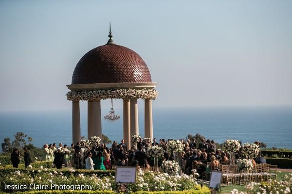 Indian wedding ceremony at venue dome capture.