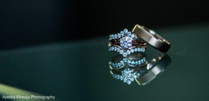 Diamond Indian wedding rings.