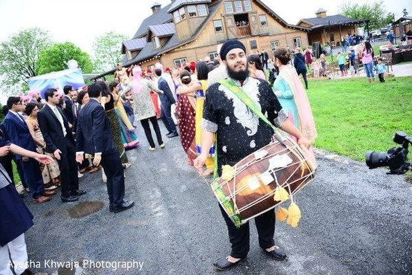Indian dhol player photography.