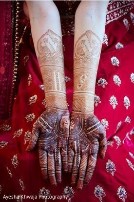 Indian bridal hands henna art capture.