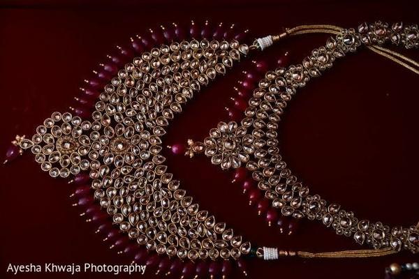 Indian bridal Red and golden kundan set.