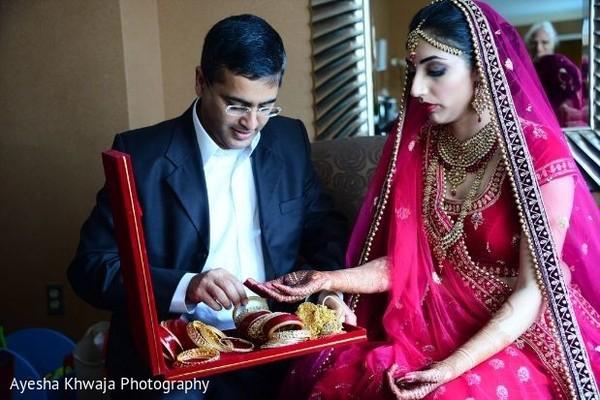 Maharani getting her chooras form chooras jewelry box.
