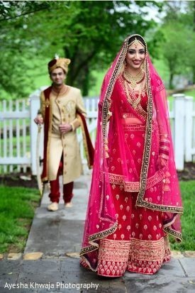 Indian groom about to meet her bride.