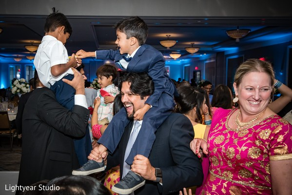 Indian children in Indian reception party.