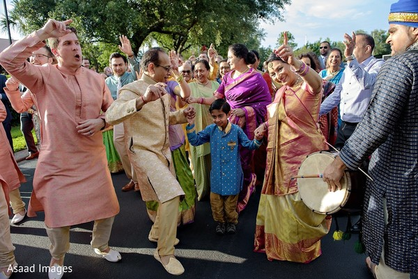 Indian baraat procession dance photography.