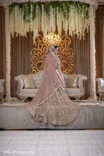Impressive Indian bride on her ceremony stage.