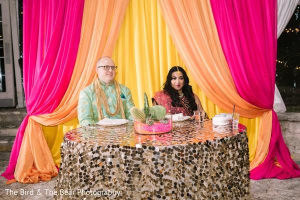 Maharani and Raja during the pre-wedding rituals.