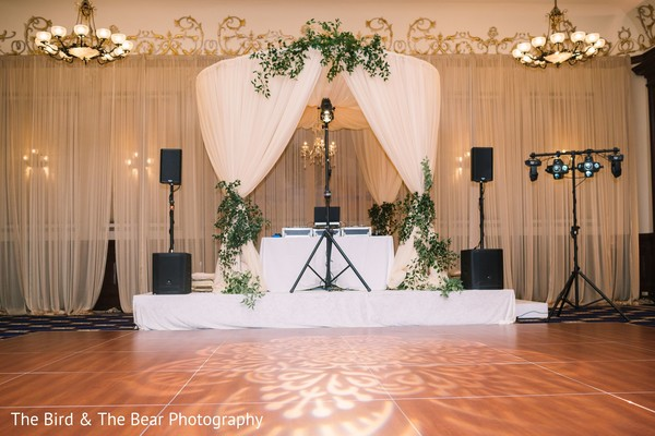 Indian wedding dance floor decor details.