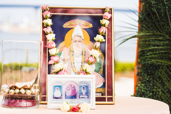 Indian pre-wedding altar for Lord Brahma decoration.