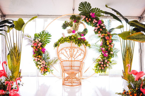 Tropical Theme Indian Wedding Stage Decoration Photo 259190