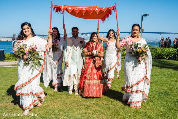 Maharani making her big entrance to ceremony.