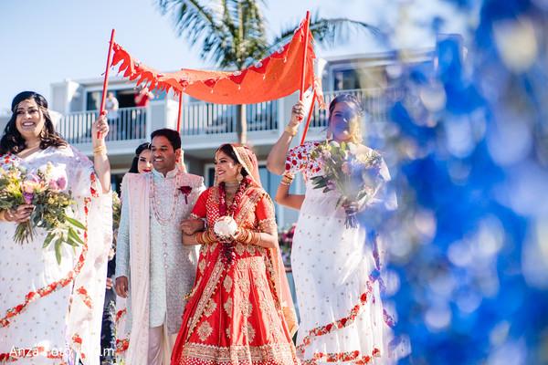 North Indian brides ceremony look.