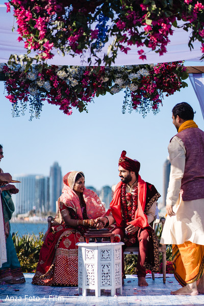 Indian bride and groom during the Kanyadaan ritual.