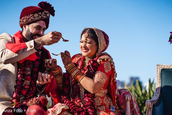 Traditional Madhuparka ritual.
