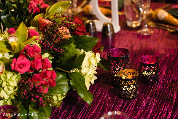 Indian wedding Burgundy tablecloth.