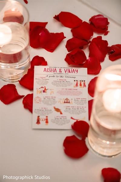 Details of the Indian couple's ceremonial descriptions.