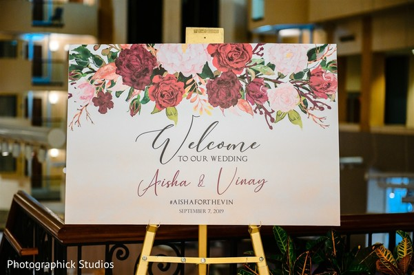 Indian wedding welcome message from the couple.