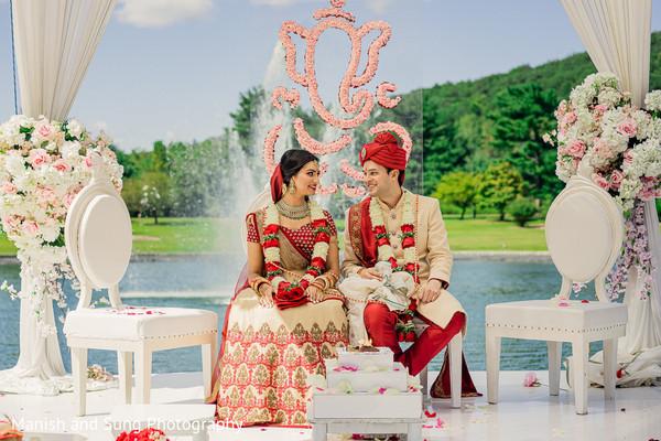 Luxury indian wedding ceremony.