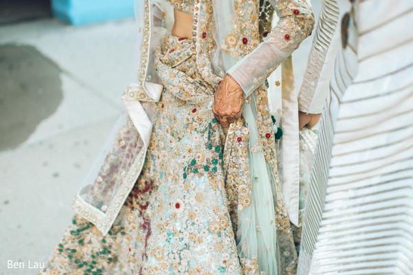 Maharani's bridal saree fabric design capture.