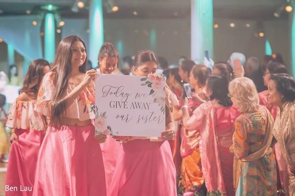 Maharanis during the Indian wedding baraat arrival.