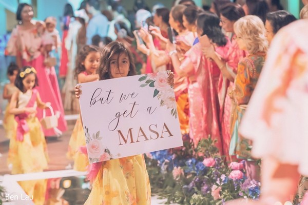 Lovely kid Maharani making her entrance to the ceremony.