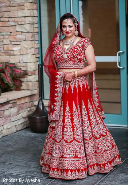 Maharani in Indian wedding attire.
