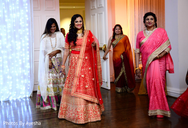 Indian bridesmaids wearing anarkali.